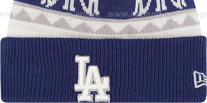 Dodgers 'THE-MOOSER' Knit Beanie Hat by New Era