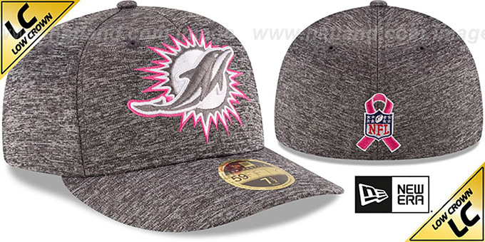 Dolphins '2016 LOW-CROWN BCA' Grey Fitted Hat by New Era