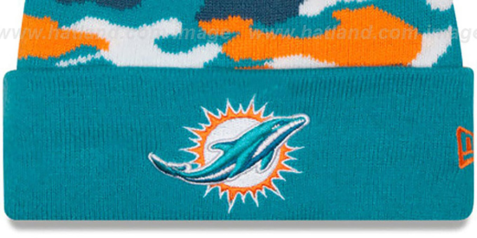 Dolphins 'CAMO CAPTIVATE' Knit Beanie Hat by New Era