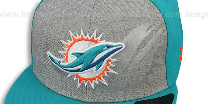 Dolphins 'HEATHER-REFLECT SNAPBACK' Grey-Aqua Hat by New Era