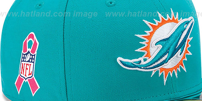 Dolphins 'NFL BCA' Aqua Fitted Hat by New Era