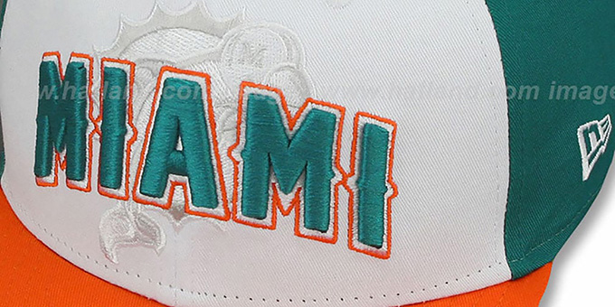Dolphins 'NFL ONFIELD DRAFT SNAPBACK' Hat by New Era