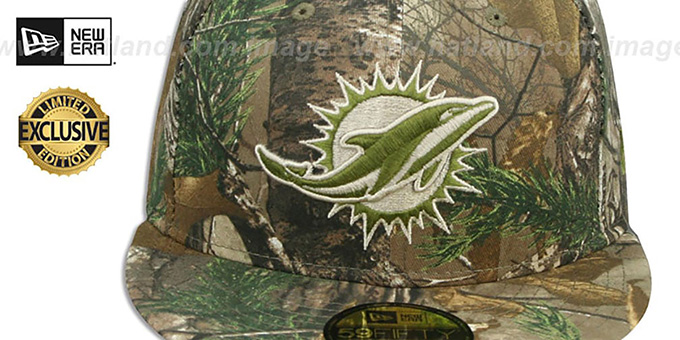 Dolphins 'NFL TEAM-BASIC' Realtree Camo Fitted Hat by New Era