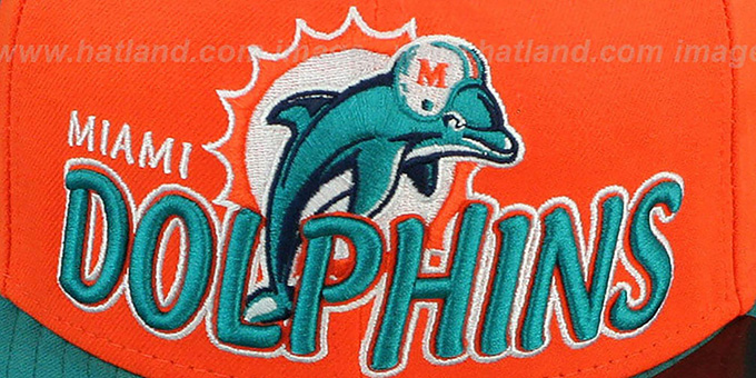 Dolphins 'NFL-TIGHT' Orange-Aqua Fitted Hat by New Era