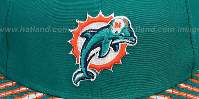Dolphins 'NFL ZUBAZ SNAPBACK' Aqua Hat by New Era