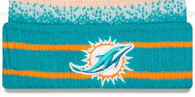 Dolphins 'SPEC-BLEND' Knit Beanie Hat by New Era