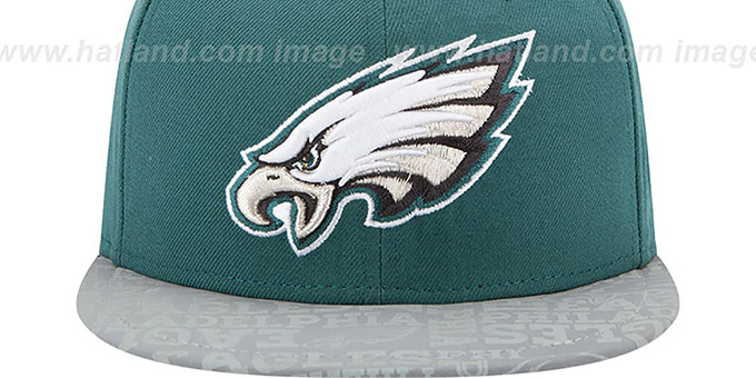 Eagles '2014 NFL DRAFT' Green Fitted Hat by New Era