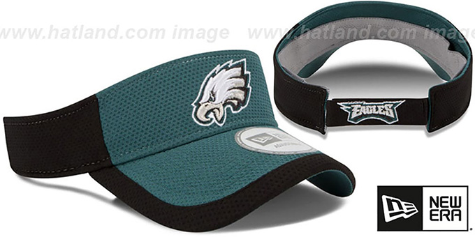 Eagles '2015 NFL TRAINING VISOR' Green-Black by New Era
