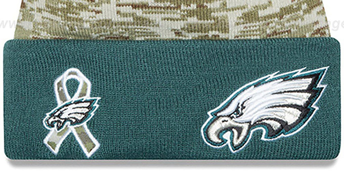 Eagles '2015 SALUTE-TO-SERVICE' Knit Beanie Hat by New Era