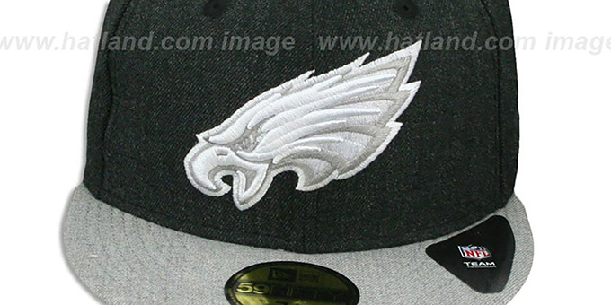 Eagles '2T-HEATHER ACTION' Charcoal-Grey Fitted Hat by New Era
