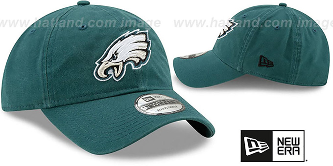 Eagles 'CORE-CLASSIC STRAPBACK' Green Hat by New Era
