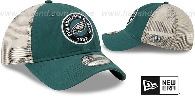 Eagles 'ESTABLISHED CIRCLE TRUCKER SNAPBACK' Hat by New Era