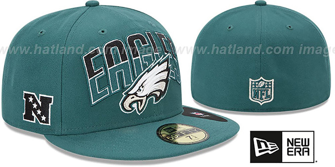 Eagles 'NFL 2013 DRAFT' Green 59FIFTY Fitted Hat by New Era