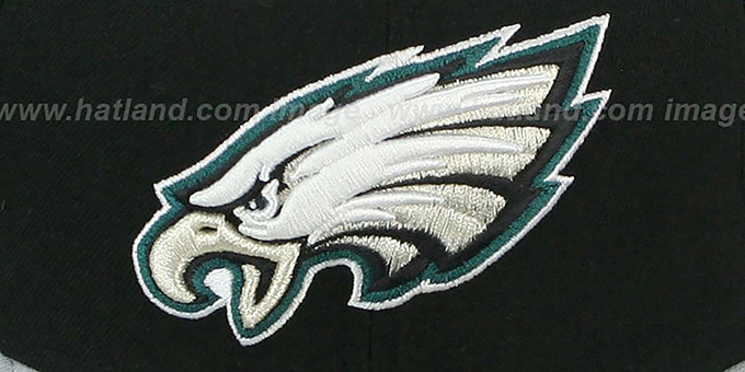 Eagles 'NFL 2T-TEAM-BASIC' Black-Grey Fitted Hat by New Era