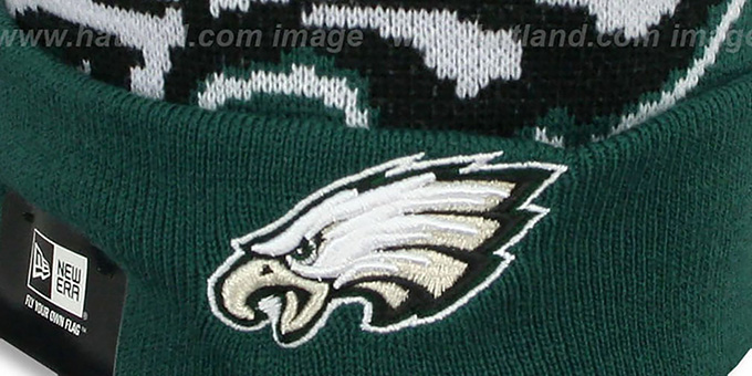 Eagles 'NFL-BIGGIE' Green Knit Beanie Hat by New Era