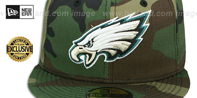 f5506e8bbde ... Eagles  NFL TEAM-BASIC  Army Camo Fitted Hat by New Era ...