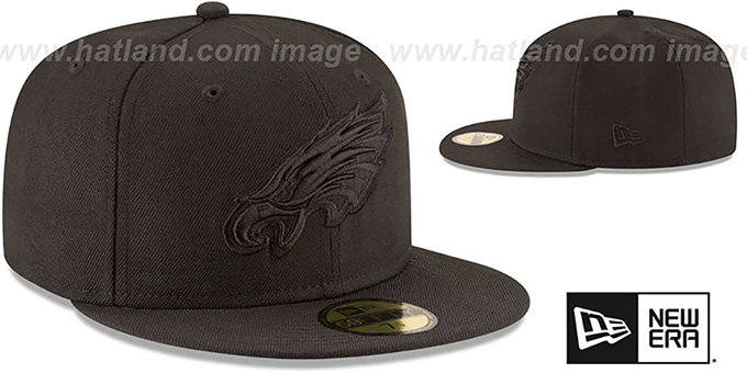 Eagles 'NFL TEAM-BASIC BLACKOUT' Fitted Hat by New Era