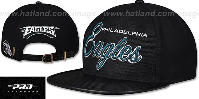 Eagles 'SCRIPT SUPER BOWL LII CHAMPS STRAPBACK' Black Hat by Pro Standard