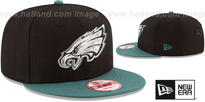 Eagles 'SHADOW SLICE SNAPBACK' Black-Green Hat by New Era