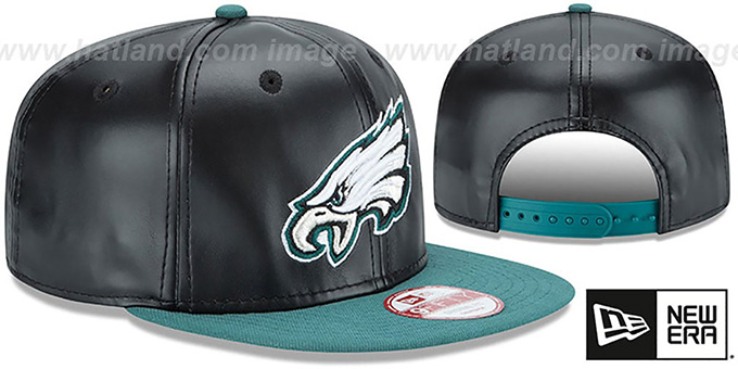Eagles 'SMOOTHLY STATED SNAPBACK' Black-Green Hat by New Era