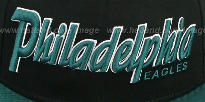 Eagles 'SNAP-IT-BACK SNAPBACK' Black-Green Hat by New Era