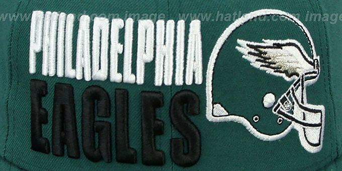Eagles 'STACK-THE-BOX' Green Fitted Hat by New Era