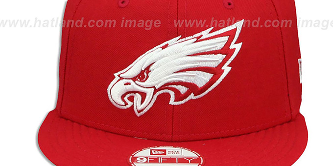 Eagles 'TEAM-BASIC SNAPBACK' Red-White Hat by New Era