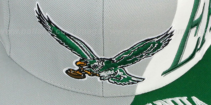 Eagles 'THE SKEW SNAPBACK' Hat by Mitchell & Ness