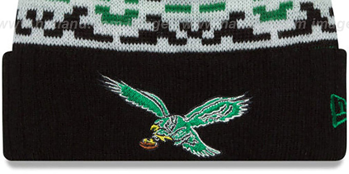 Eagles 'THROWBACK RETRO CHILL' Knit Beanie Hat by New Era