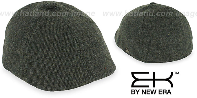 EK 'TWEED DUCKBILL' Olive Driver Hat by New Era
