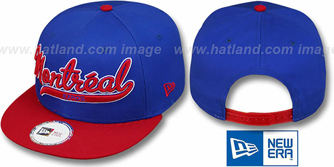 Expos COOP '2T SCRIPTER SNAPBACK' Royal-Red Hat by New Era