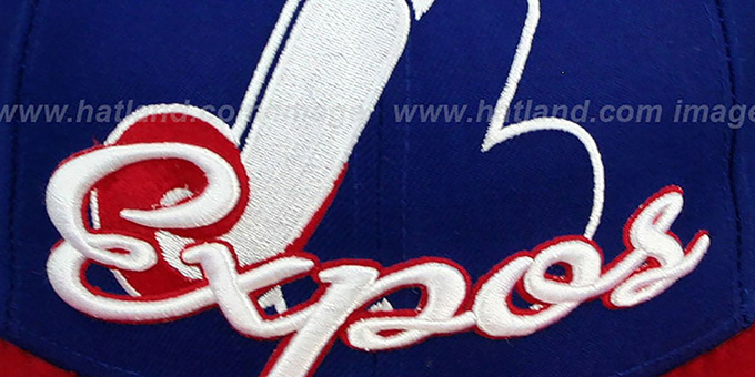 Expos COOP 'SCRIPT-PUNCH' Royal-Red Fitted Hat by New Era