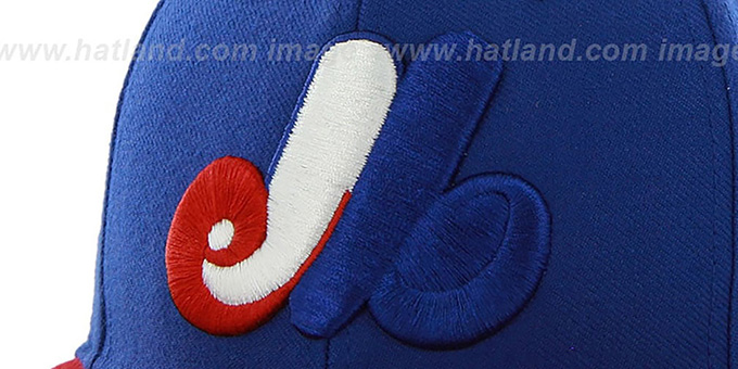 Expos COOP 'SURE-SHOT SNAPBACK' Royal-Red Hat by Twins 47 Brand