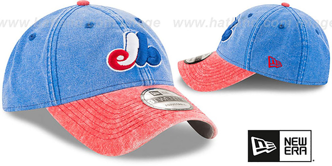 ac11b3f1d0aa46 ... Expos 'GW COOP RUGGED CANVAS STRAPBACK' Royal-Red Hat by New Era ...