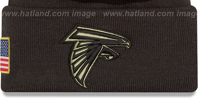 Falcons '2016 SALUTE-TO-SERVICE' Knit Beanie Hat by New Era