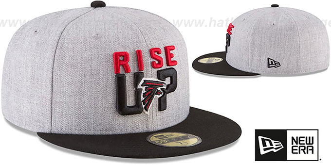 Falcons '2018 ONSTAGE' Grey-Black Fitted Hat by New Era