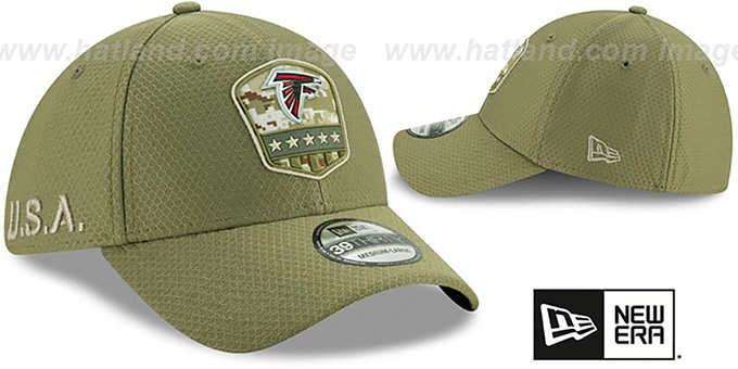 Falcons '2019 SALUTE-TO-SERVICE FLEX' Olive Hat by New Era