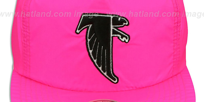 Falcons 'NEON SNAPBACK' Pink Hat by Mitchell and Ness