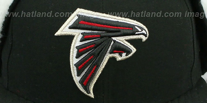 Falcons 'NFL-DOGEAR' Black Fitted Hat by New Era