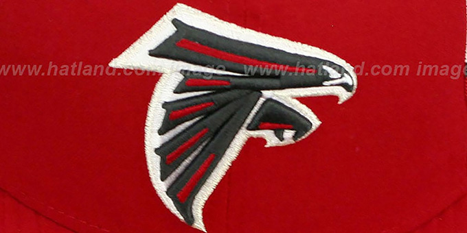 Falcons 'NFL JERSEY-STRIPE' Red Fitted Hat by New Era