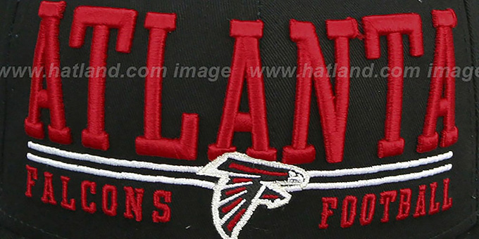 Falcons 'NFL LATERAL SNAPBACK' Black Hat by New Era