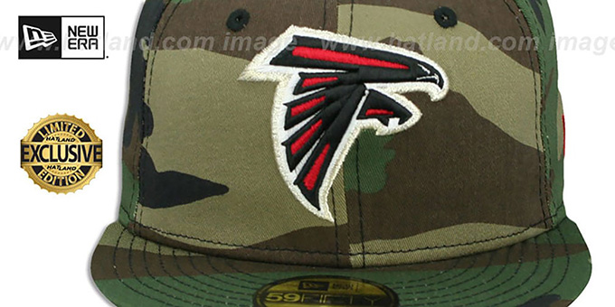 Falcons 'NFL TEAM-BASIC' Army Camo Fitted Hat by New Era