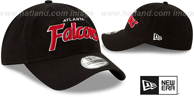 Falcons 'RETRO-SCRIPT SNAPBACK' Black Hat by New Era