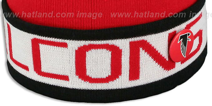 Falcons 'THE-BUTTON' Knit Beanie Hat by Michell & Ness