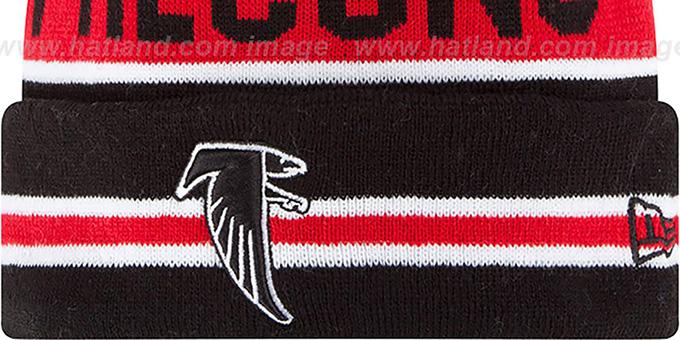 ... Falcons  THE-COACH THROWBACK  Black Knit Beanie Hat by New Era ... 69c9990e2e53