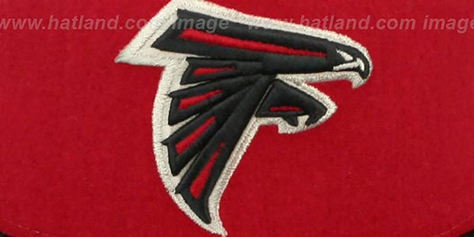 4b82485ad ... Falcons  TRIPLE MELTON STRAPBACK  Red-White-Black Hat by New Era ...