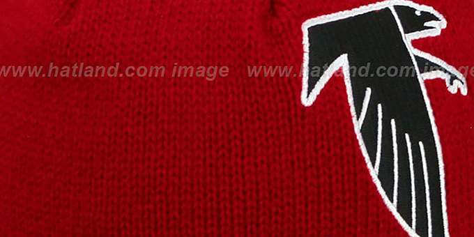 Falcons 'XL-LOGO BEANIE' Red by Mitchell and Ness