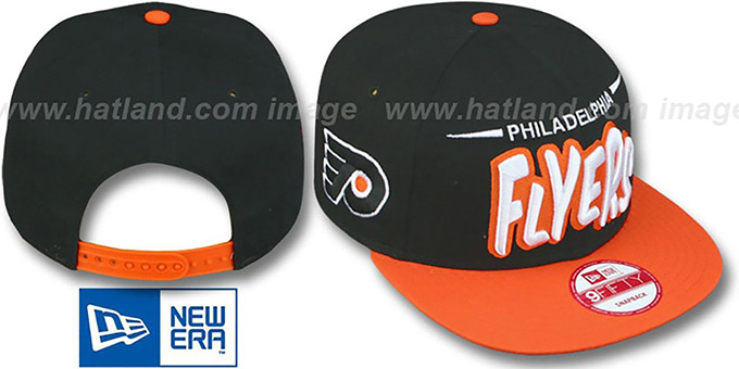 Flyers '2T DOPETASTIC SNAPBACK' Black-Orange Hat by New Era