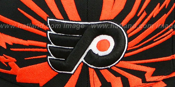 Flyers 'EARTHQUAKE SNAPBACK' Black Hat by Mitchell and Ness