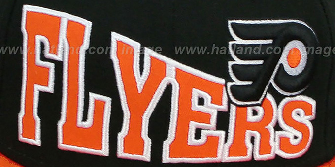Flyers 'STOKED SNAPBACK' Black-Orange Hat by New Era